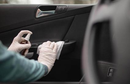 Disinfection and cleaning of car interior