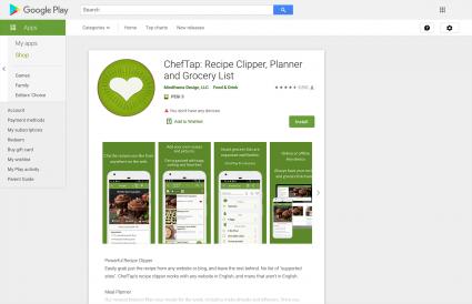 Screenshot of ChefTap Basic