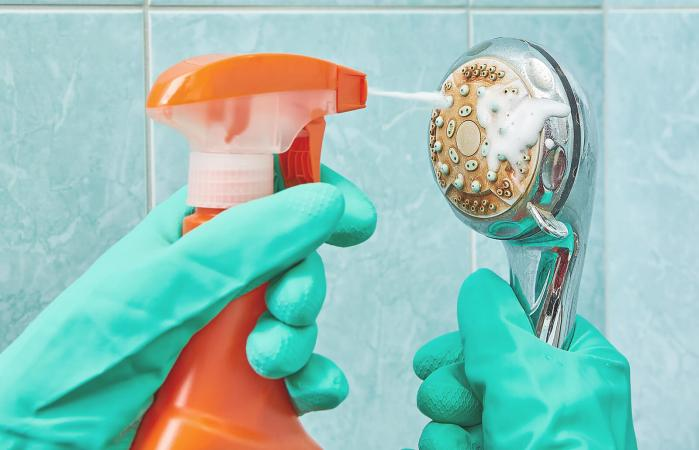 Cleaning the head of shower