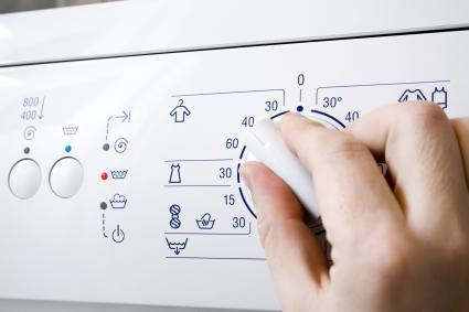 Temperature knob in the washing machine