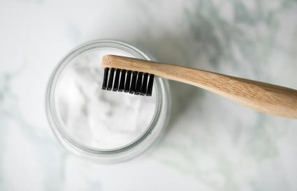 Baking soda by brush