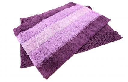Purple Microfiber bath mat