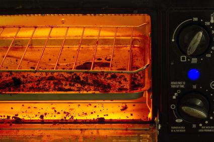 Toaster Oven with bread crumbs