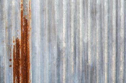 Old Rusty Galvanized Iron Plate Texture