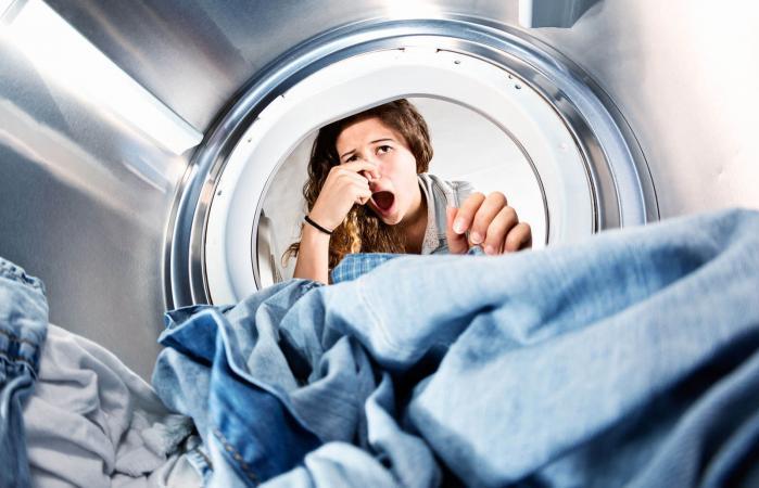 smelling washing machine