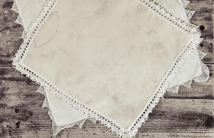 stains on vintage linens