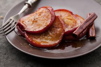 Rebanadas de manzana horneadas
