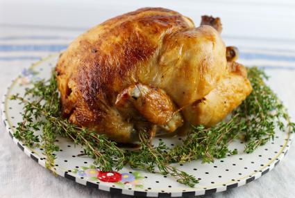 Pollo cocinado en olla express
