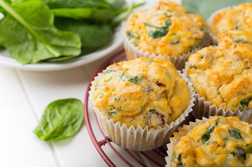 Muffins de espinaca y queso