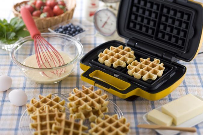 Foto de gofres o waffles con coco