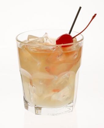 Cognac sour with a cherry