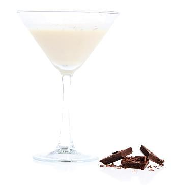 Caramel martini with chocolate