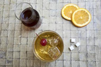 Ingredients for an old fashioned