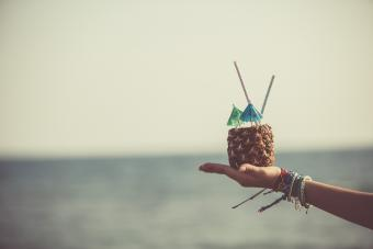 Mint-pineapple Hawaiian mocktail