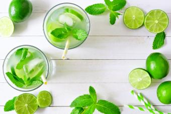 Non-alcoholic Jamaican lime water