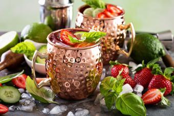strawberry mint mule mocktail