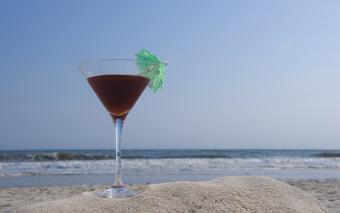 French martini with vanilla vodka