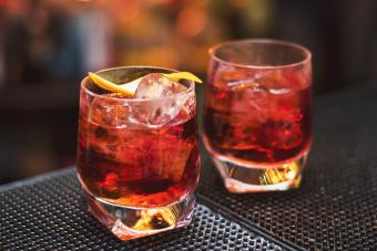 Two negroni cocktails