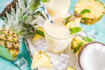 Tropical YumChata mixed drink