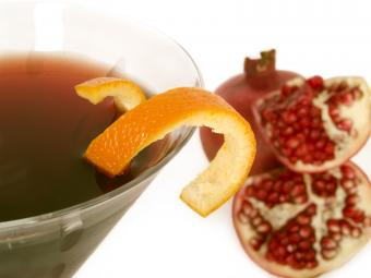Orange-pom vodka martini
