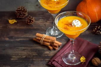 Cocktail with Pumpkin Pie Spices and Whipped Cream