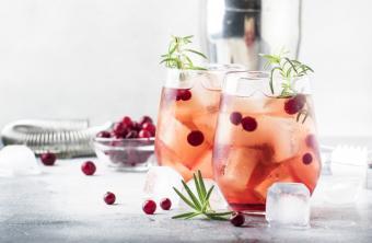 Cranberry ginger sparkler