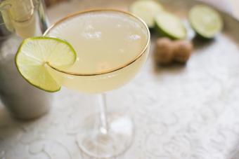 Classic daiquiri in a cocktail glass