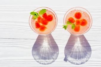 Watermelon ball martini