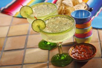 Virgin margarita with lime salt
