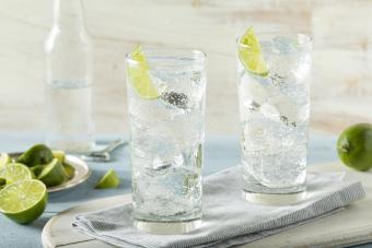 Vodka soda lime cocktail