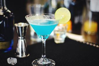 Blue kamikaze drink