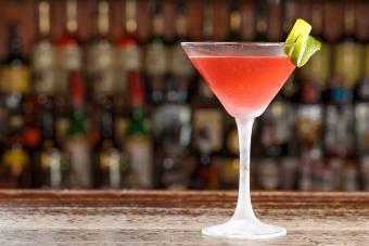 Cranberry kamikaze martini