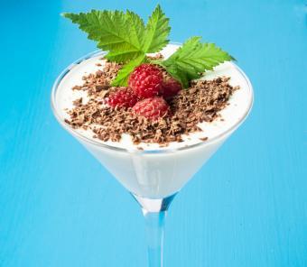 White chocolate and raspberry martini
