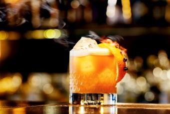 Whisky Sour serve in a bar counter