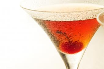 Modern cocktail Close up with cherry