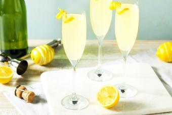 Lemon French 75 Cocktail