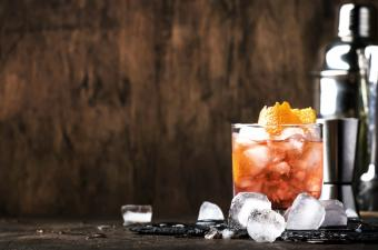 Americano Alcohol cocktail with red vermouth