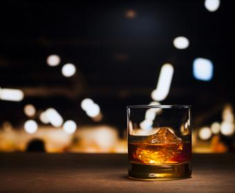 Old fashioned whisky drink