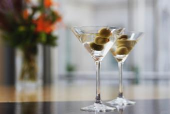 Two martini drinks