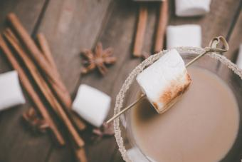 Tequila rose s'mores cocktail
