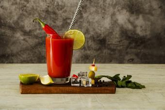 Spicy Caesar cocktail drink