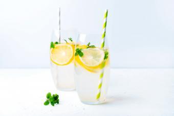 Two glasses of Coconut Lemonade
