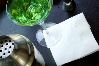 Green Martini and a shaker