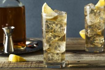 Frangelico Spritz on a wooden table