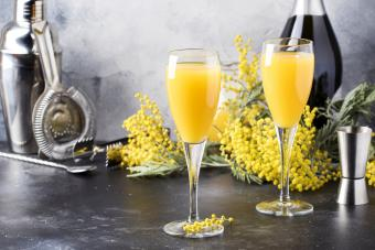 Spring alcohol cocktail mimosa