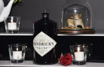 A display of Hendrick's Gin