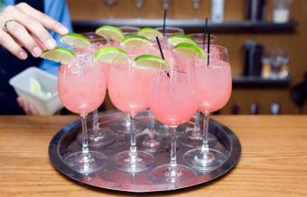 Pink whitney wine spritzer