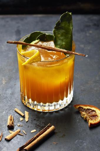 Old fashioned orange maple cocktail