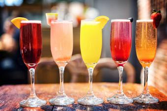 Assortment of Colorful Brunch Cocktails