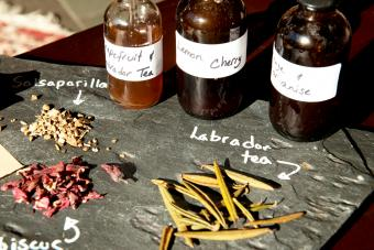 A selection of herbs used to produce the custom bitters